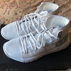 White Under Armour basketball sneakers